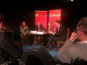 Jamila Aanzi, Tony van der Togt, Linda Senden en Paul Tang